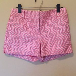 "LOFT Riviera 4"" pink & purple shorts NWT"